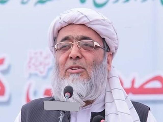 انصار الاسلام جے یو آئی کی رضاکار تنظیم کے طورپر الیکشن کمیشن میں رجسٹرڈ ہے، حافظ حسین احمد، فوٹو: فائل