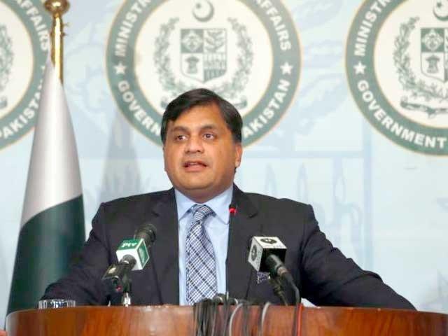 ہم بار بار کہتے ہیں کہ سیاسی فائدوں کے لئے پاکستان کا نام استعمال کرنے کا سلسلہ ختم ہونا چاہیے، ترجمان (فوٹو : فائل)