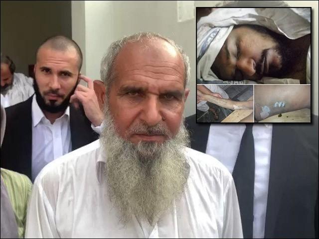 صلاح الدین کے والد نے پولیس اہلکاروں کو ''اللہ کے نام پر'' معاف کردیا۔ (فوٹو: فائل)