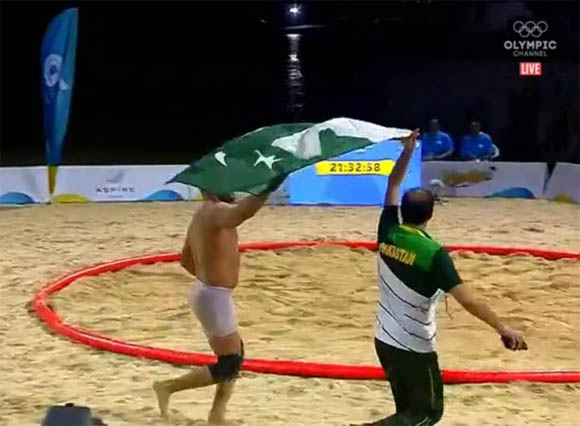 Inam But win world beach wrestling 2