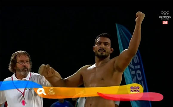 Inam But win world beach wrestling 4