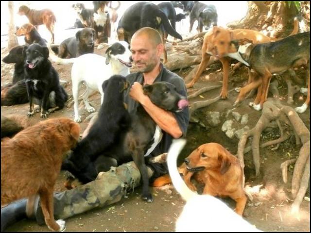 یہ کہنا زیادہ صحیح ہوگا کہ ساشا پیسک نے اپنی پوری زندگی ہی کتوں کی فلاح و بہبود کےلیے وقف کردی ہے۔ (فوٹو: انٹرنیٹ)