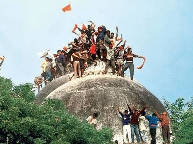ایسا کوئی ثبوت نہیں ہے کہ 1856 سے پہلے اس سر زمین پرکبھی بھی نمازادا کی گئی ہو، بھارتی سپریم کورٹ: فوٹو: فائل