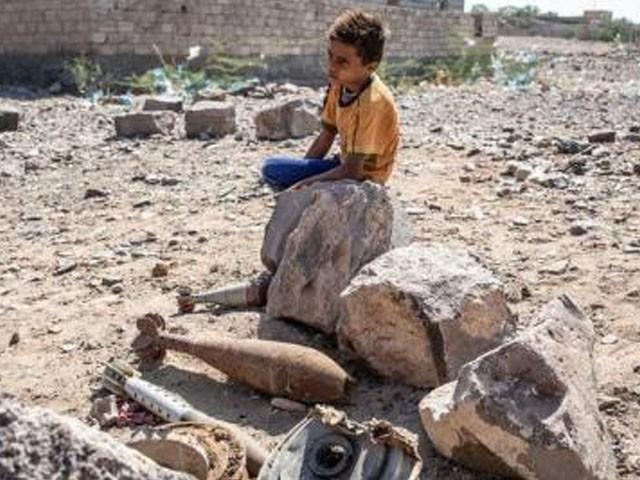 بچے بکریاں چرا رہے تھے کہ بارودی سرنگ دھماکے سے پھٹ گئی۔ فوٹو : فائل