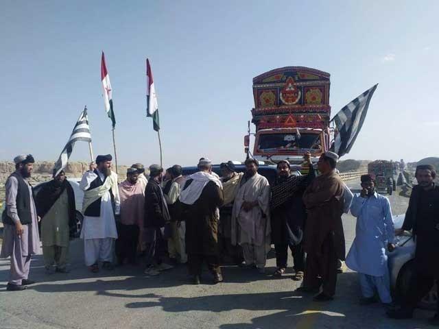 جے یو آئی (ف) اور پشتونخوا میپ کے کارکنوں کا سید حمید کراس کے مقام پر احتجاج فوٹوسوشل میڈیا