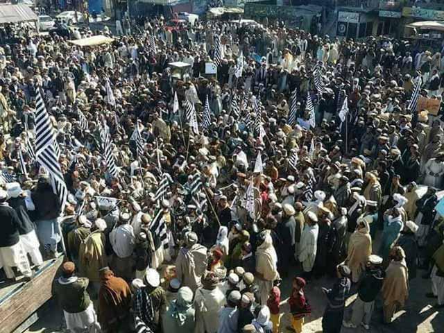 عمران خانکے مستعفی ہونے تک احتجاج جاری رہے گا، جے یو آئی۔ فوٹو:فائل