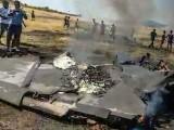 ایک سال میں بھارتی طیارہ گرنے کا یہ چھٹا واقعہ ہے۔ فوٹو : بھارتی میڈیا