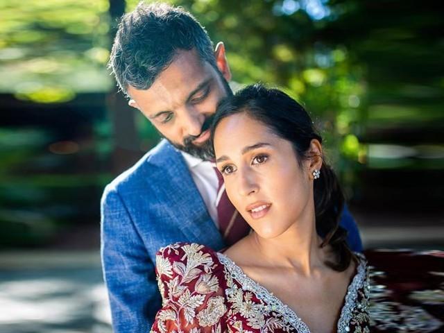 میرا سیٹھی اور بلال صدیقی کی شادی کی تقریب امریکہ میں منعقد ہوئی۔ فوٹو: سوشل میڈیا