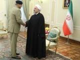ایرانی صدر نے خطے میں امن کیلیے پاکستان کے کردار کی تعریف کی اور دہشت گردی کے خلاف پاک فوج کی کامیابیوں کوسراہا (فوٹو:آئی ایس پی آر)