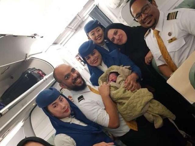 السعودیہ ایئر کا طیارہ عرعر سے ریاض کیلیے محو پرواز تھا۔ فوٹو : الوطن اخبار