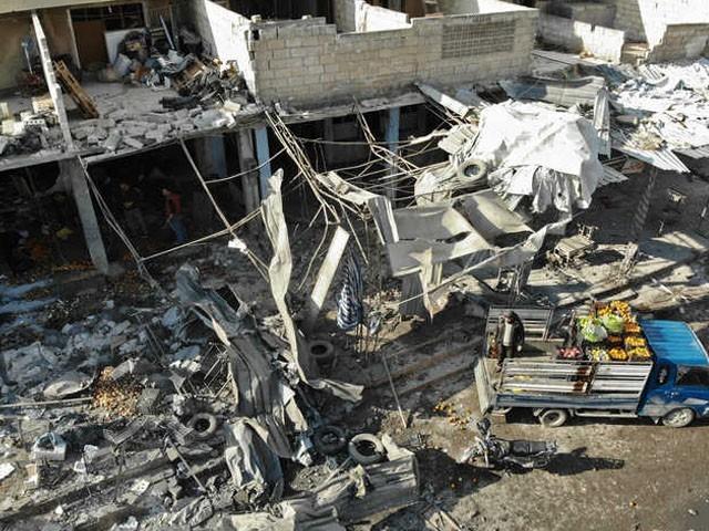اسکول پر حملے میں بچے بھی جاں بحق ہوئے۔ فوٹو :اے ایف پی