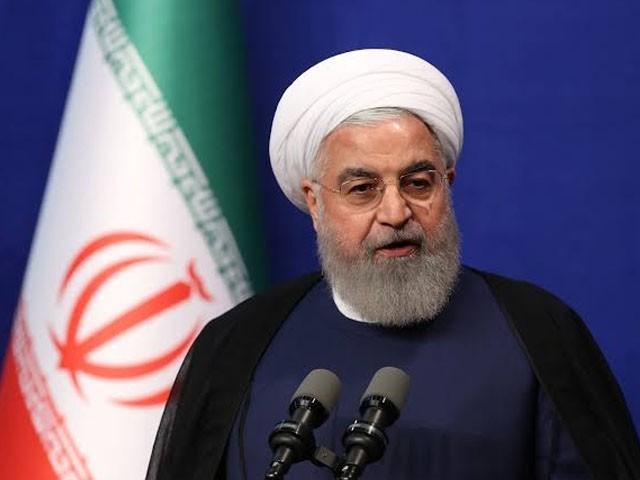امریکا غیر قانونی پابندیاں ہٹائے تو مذاکرات کیلیے تیار ہیں۔ حسن روحانی (فوٹو : فائل)