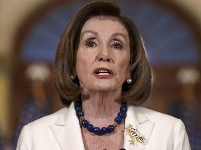 امریکی پارلیمنٹ کی اسپیکر نینسی پیلوسی نے صدر ڈونلڈ ٹرمپ کے خلاف مواخذے کا اعلان کیا ہے۔ فوٹو: فائل