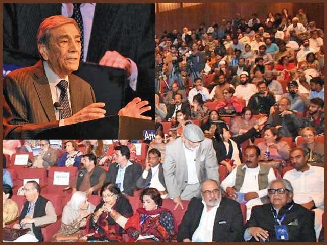 مرزا غالب نے 30 سال میں2746 اشعار لکھے، عالمی اردو کانفرنس سے ڈاکٹر نعمان الحق،ہیرو جی کتا کا، شمیم حنفی کاخطاب۔ فوٹو: فائل