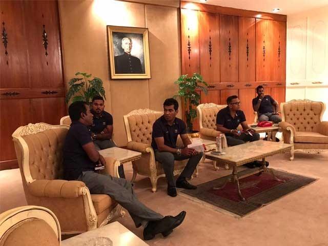 اسلام آباد کے مقامی ہوٹل میں سری لنکن کھلاڑیوں کے لیے خصوصی اہتمام کے ساتھ دوسا کی ڈش تیار کرائی گئی