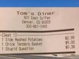امریکی ریستوران میں احمقانہ سوال پر 38 سینٹ کا معمولی جرمانہ ہوسکتا ہے (فوٹو: فائل)