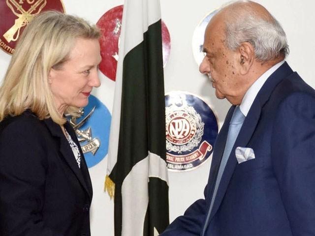 امریکی معاون وزیر خارجہ ایلس ویلز چار روزہ دورے پر پاکستان پہنچی ہیں، فوٹو : ٹویٹر