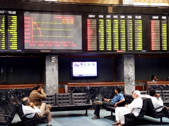 مارکیٹ کے اختتام پر کے ایس ای 100 انڈیکس 65.20 پوائنٹس کی کمی سے 42561.27 پوائنٹس پر بند ہوا ۔ فوٹو : فائل