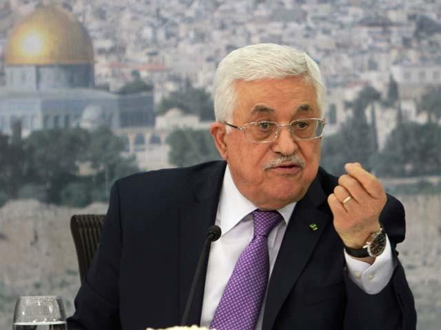 فلسطینی صدر نے عالمی برادری سے بھی منصوبے کو مسترد کرنے کا مطالبہ کیا۔