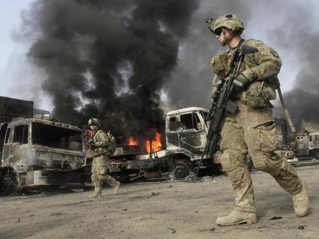 حملے میں 11 اہلکار زخمی بھی ہوئے اور 4 اہلکاروں کو اغوا کرلیا گیا، فوٹو : فائل