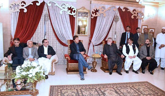 Imran Khan meet Per Pagara at Kangri House Karachi