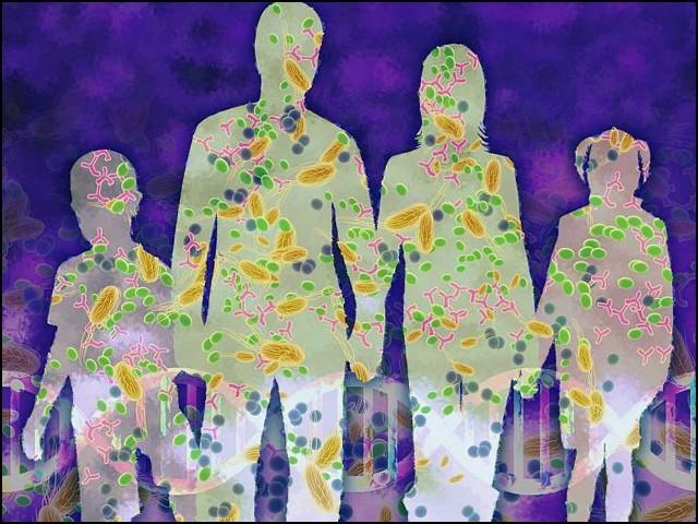ہر انسان میں ہزاروں اقسام کے کھربوں جراثیم پائے جاتے ہیں جن میں سے بیشتر مفید یا بے ضرر ہوتے ہیں۔ (فوٹو: انٹرنیٹ)