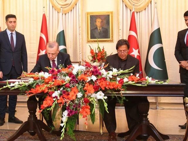پاک ترک ایم اویوز پر دستخط نئے دور کا آغاز ہے، ایم او یوز سے دونوں ممالک کو فائدہ ہوگا، عمران خان۔