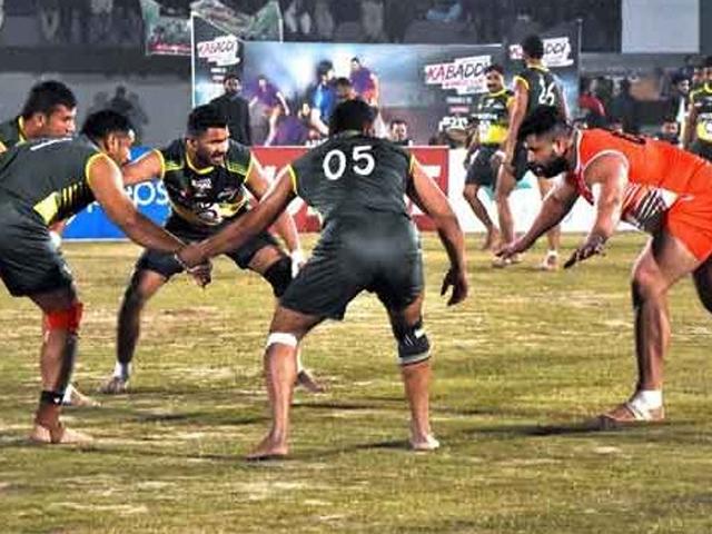 کبڈی ورلڈ کپ کے سیمی فائنلز کل پنجاب اسٹیڈیم لاہور میں کھیلے جائیں گے (فوٹو: فائل)