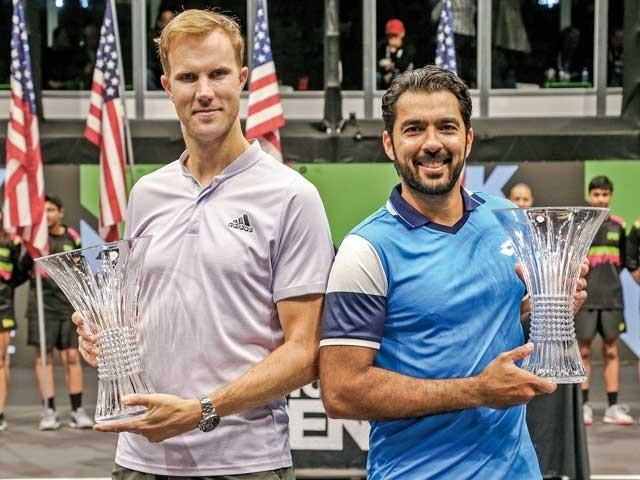 نیویارک ٹینس کے ڈبلز ٹائٹل پر قبضہ، مزید 2سال کھیلنے کا عزم۔ فوٹو: فائل