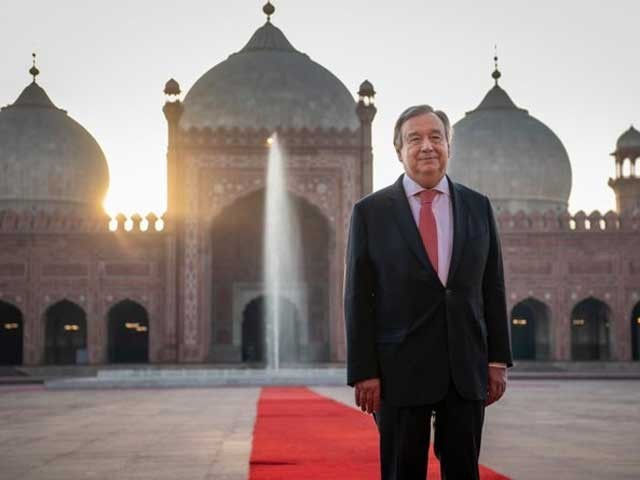لاہور کی ثقافت اور وسیع تاریخ سےبہت لطف اندوز ہوا، انتونیوگوتریس  فوٹوٹوئٹر