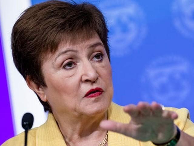 کورونا وائرس سے متاثرہ رکن ممالک کے لیے بلا سود قرضے کا اعلان ایم ڈی کرسٹالینا جورجیفا نے کیا، فوٹو : فائل