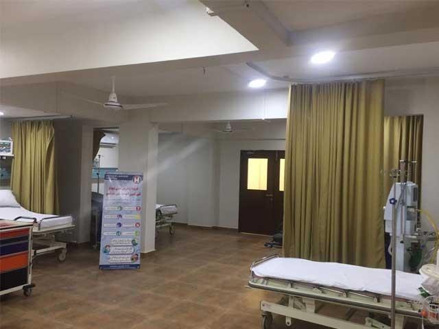 کورونا وائرس کی روک تھام کیلیے حسین لاکھانی اسپتال میں 50 بستروں پر مشتمل آئسولیشن وارڈز قائم