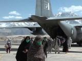پاک فضائیہ کا ٹرانسپورٹ بیڑا امدادی سرگرمیوں میں پیش پیش ہے۔ فوٹو: سوشل میڈیا