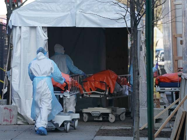 کورونا وائرس کے باعث اٹلی میں اب تک 15362افراد ہلاک ہوچکے ہیں۔ فوٹو : اے ایف پی
