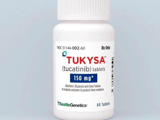 سیاٹل جینیٹکس کی جانب سے تیارکردہ نئی دوا جو چھاتی کے سرطان کی ایک قسم کا علاج کرسکتی ہے۔ فوٹو: سیاٹل جنیٹکس