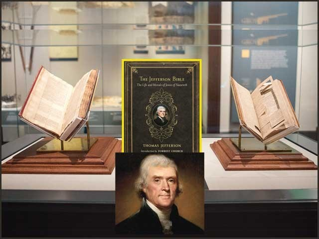 سابق امریکی صدر کی بائبل سے متعلق بکھری معلومات کا احاطہ کرتی تحریر ۔  فوٹو : فائل