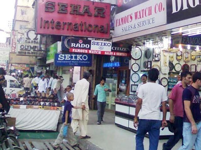 کراچی صدر بازار کی ایک فائل فوٹو