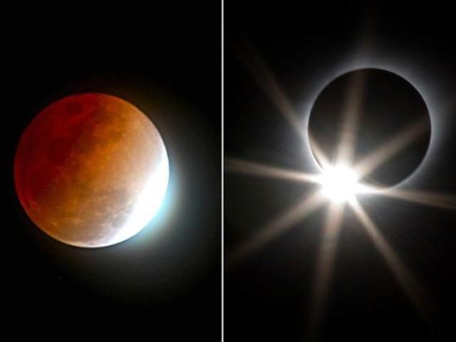 چاند گرہن کانظارہ پاکستان سمیت ایشیا کے زیادہ ترحصوں، یورپ آسٹریلیا،افریقا، جنوبی امریکااوردیگرممالک میں کیا جاسکے گا۔ فوٹو: فائل