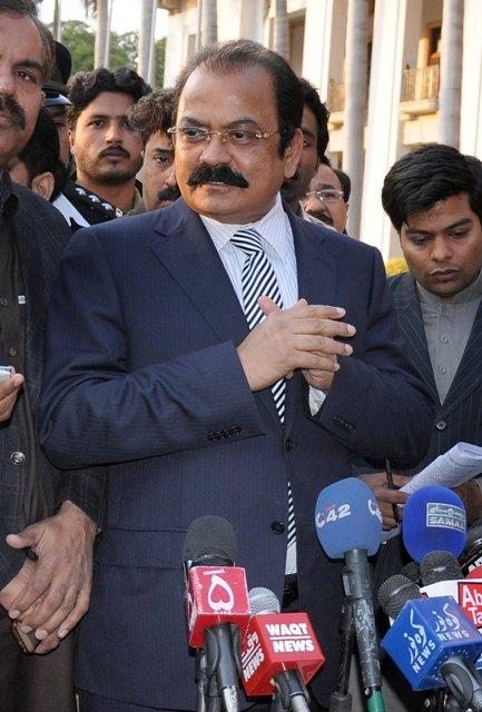 رانا ثناءاللہ کی جانب سے فرہاد علی شاہ ایڈووکیٹ عدالت میں پیش ہوئے فوٹوفائل