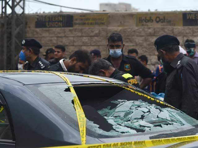 دہشتگردوں کے زیر استعمال گاڑی 2013 کے ماڈل کی ہے فوٹو: اے ایف پی