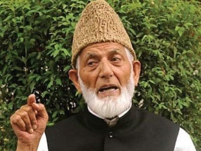 سید علی گیلانی سے مستعفی ہونے کا اعلان آڈیو پیغام میں کیا، فوٹو : فائل