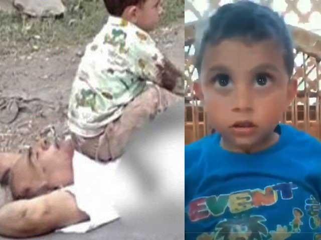 گزشتہ روز بھارتی فوج نے 3 سالہ بچے کے سامنے اس کے نانا کو شہید کردیا تھا فوٹوانٹریٹ