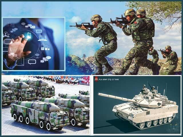 سائنس وٹیکنالوجی میں مہارت تامہ پانے کے بعد چینی ماہرین اپنی فوج کو جدید سے جدید تر بنانے کا عمل شروع کر چکے ۔  فوٹو  : فائل
