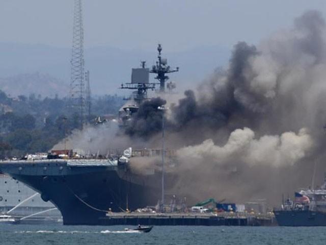 زخمیوں میں امریکی بحریہ کے 17 اہلکار بھی شامل ہیں، فوٹو : اے ایف پی