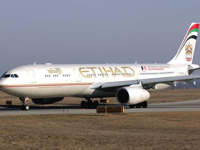 اتحاد ایئر ویز لاہور سے 7،کراچی سے 3جبکہ اسلام آباد سے 2پروازیں چلائے گی۔ فوٹو: فائل