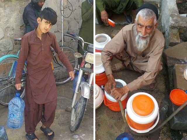 پانی کا مسئلہ حل کیا جائے اور ہمیں اس اذیت سے چھٹکارا دلایا جائے، شہریوں کا حکومت سے مطالبہ . فوٹو : ایکسپریس