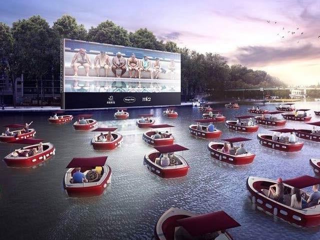 امریکا میں تیرتے ہوئے سینما کا افتتاح ستمبر کو ہورہا ہے۔ فوٹو: کرون ویب سائٹ
