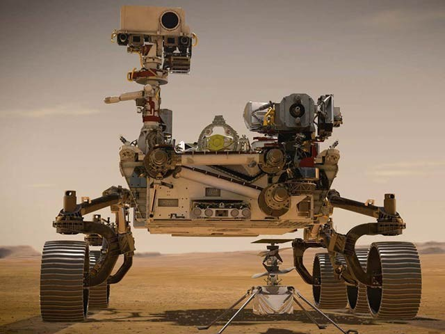 مریخ پر قدیم حیات کی تلاش کے لئے جدید ترین مشن خلا میں روانہ کردیا گیا ہے۔ فوٹو: بشکریہ جے پی ایل، ناسا