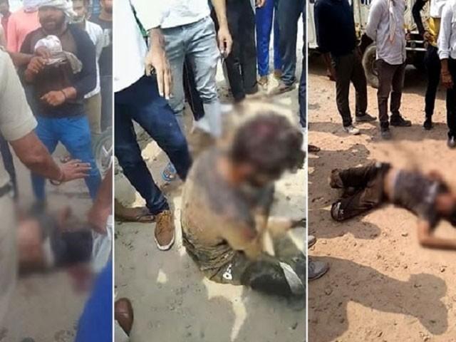 ڈرائیور کو گائے کا گوشت لے جانے کے جرم میں شدید تشدد کا نشانہ بنایاگیا۔ فوٹو، انٹرنیٹ