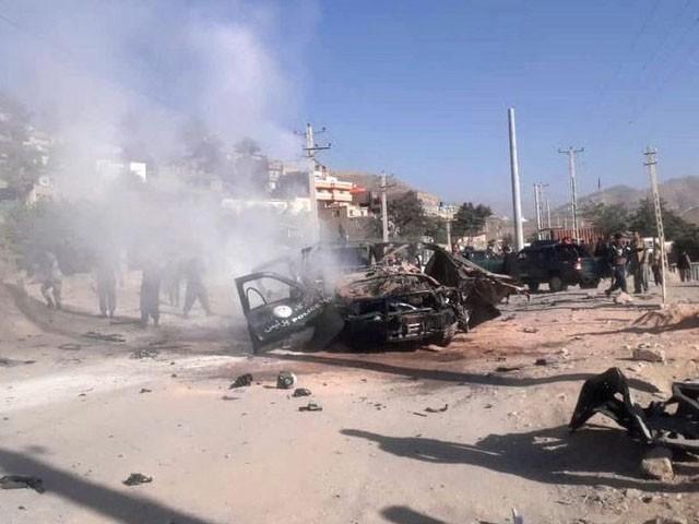 حملہ آوروں نے بارود سے بھری گاڑی جیل سے ٹکرا دی، فوٹو : فائل